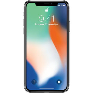 Фотография мобильного телефона Apple iPhone X (64Gb, silver, MQAD2RU/A)