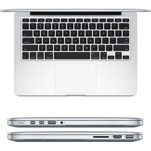 Фотография ноутбуки Apple MacBook Pro 13 with Retina display Early 2015 (MF839, i5 2.7/8Gb/128Gb, silver)