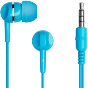 Фотография проводных наушников Prime Line Earphones (голубой)